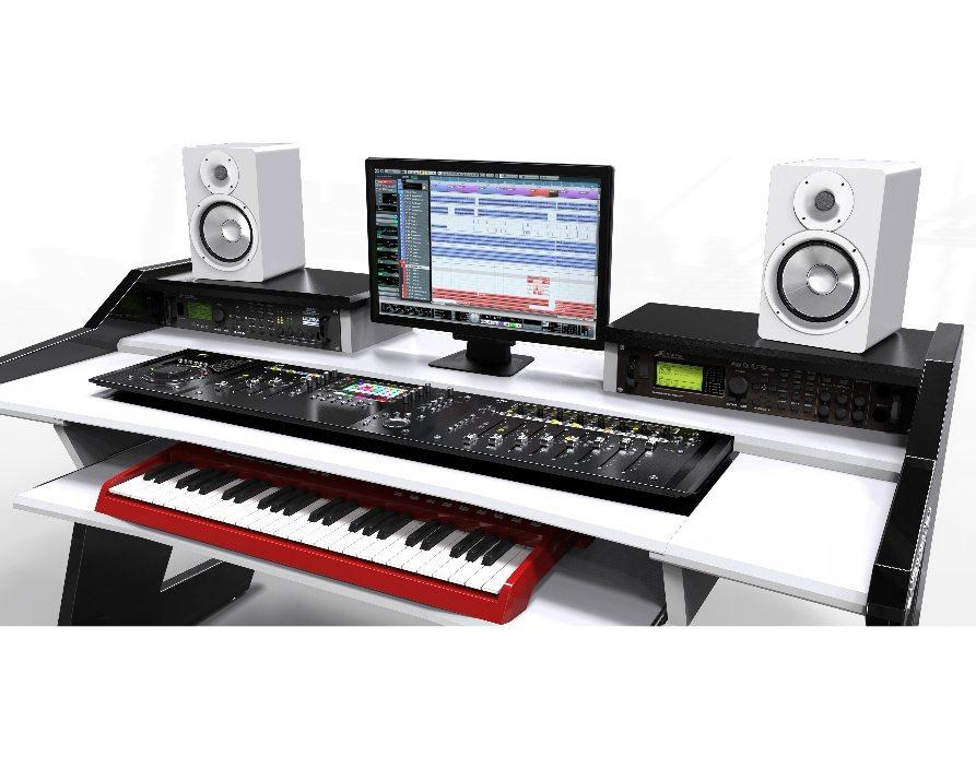 Beat Desk All Black Studio Desk Workstation Furniture