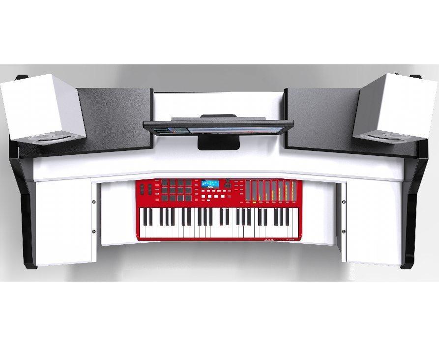 Beat Desk White Studio Desk Workstation Furniture