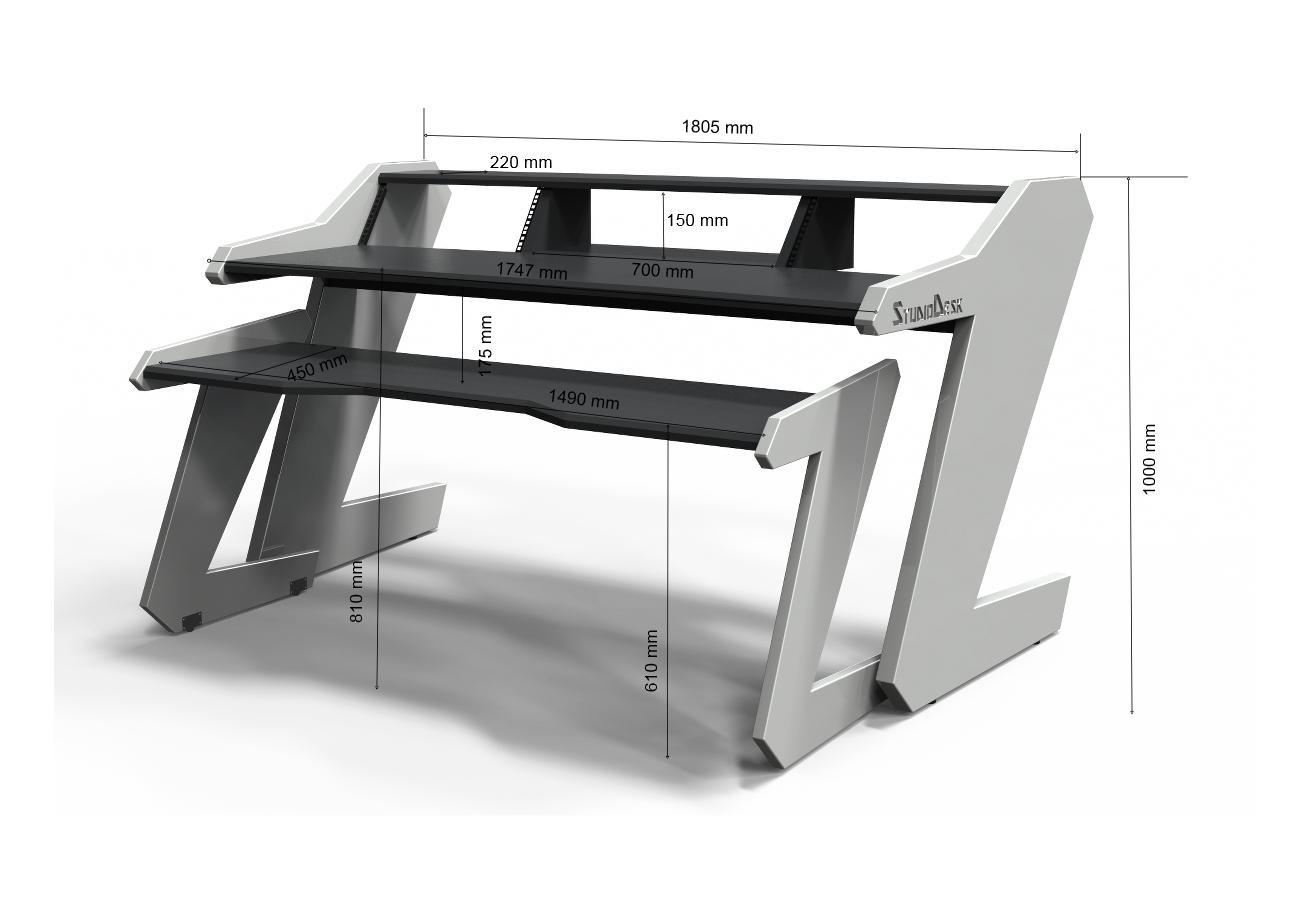 Music Commadner desk dimensions white