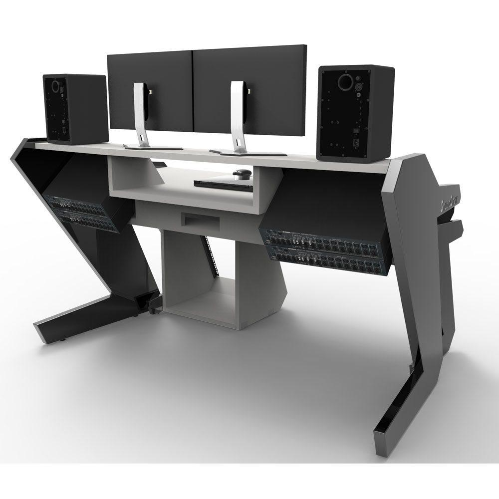 Music Commander Full Set White Studio Desk Workstation