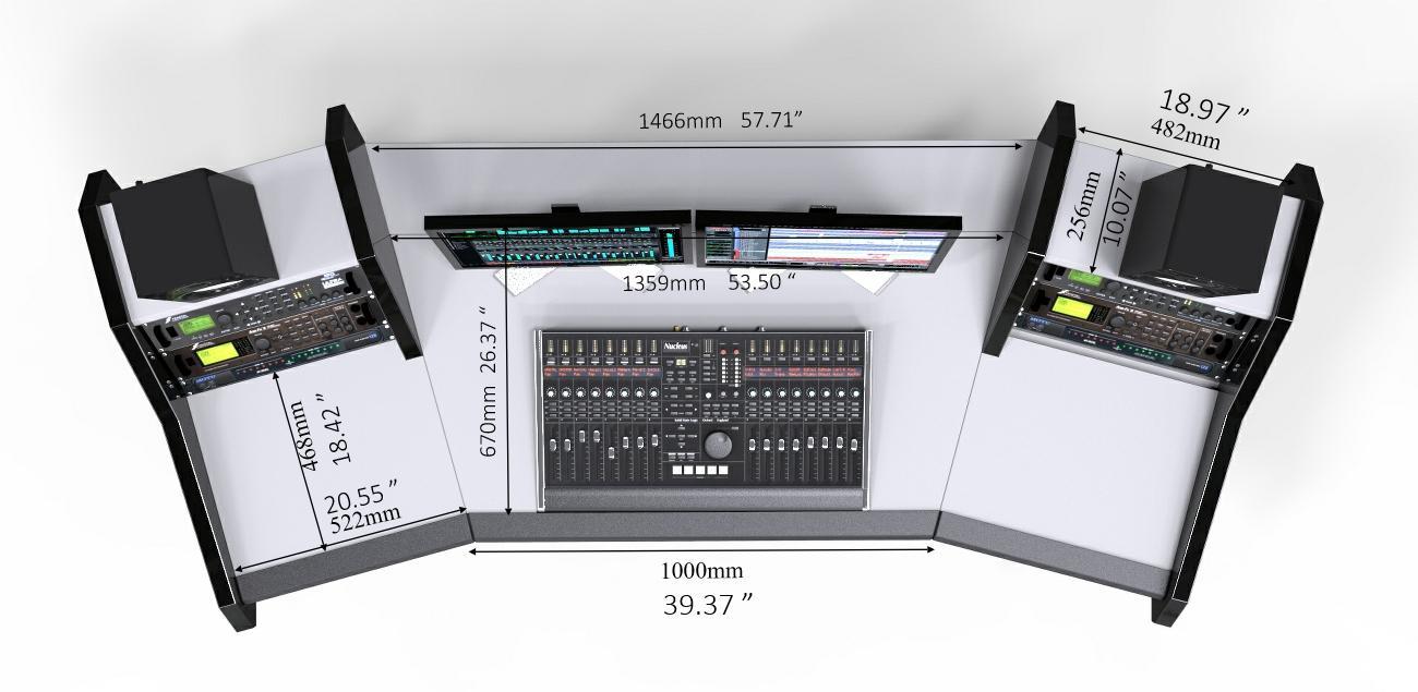 Pro Line All White Studiodesk
